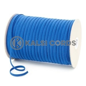Royal Blue 6mm 8 Cord Flat Braided Elastic Roll Sewing Tailoring Face Masks TPE11 Kalsi Cords