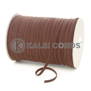 York Brown 6mm 8 Cord Flat Braided Elastic Roll Sewing Tailoring Face Masks TPE11 Kalsi Cords