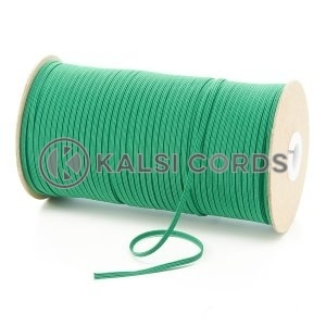 Emerald Green 3mm 4 Cord Flat Braided Elastic Roll Sewing Face Masks TPE50 Kalsi Cords