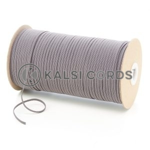 Grey 3mm 4 Cord Flat Braided Elastic Roll Sewing Face Masks TPE50 Kalsi Cords