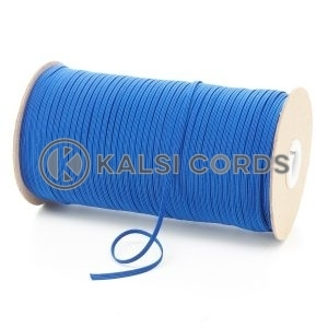 Royal Blue 3mm 4 Cord Flat Braided Elastic Roll Sewing Face Masks TPE50 Kalsi Cords