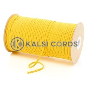 Yellow 3mm 4 Cord Flat Braided Elastic Roll Sewing Face Masks TPE50 Kalsi Cords