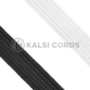 12mm 12 Cord Flat Braided Elastic