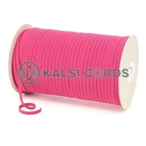 Cerise Pink 4mm 6 Cord Flat Braided Elastic Roll Sewing Face Masks TPE10 Kalsi Cords