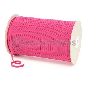 TPE10 4mm 6 Cord Flat Braided Elastic Cerise Pink PG391 Kalsi Cords