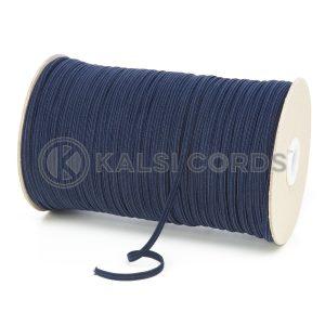TPE10 4mm 6 Cord Flat Braided Elastic Dark Navy PG791 Kalsi Cords
