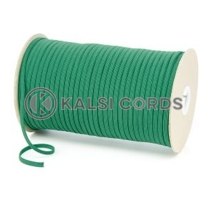 Emerald Green 4mm 6 Cord Flat Braided Elastic Roll Sewing Face Masks TPE10 Kalsi Cords
