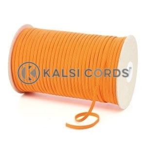 TPE10 4mm 6 Cord Flat Braided Elastic Orange PG738 Kalsi Cords