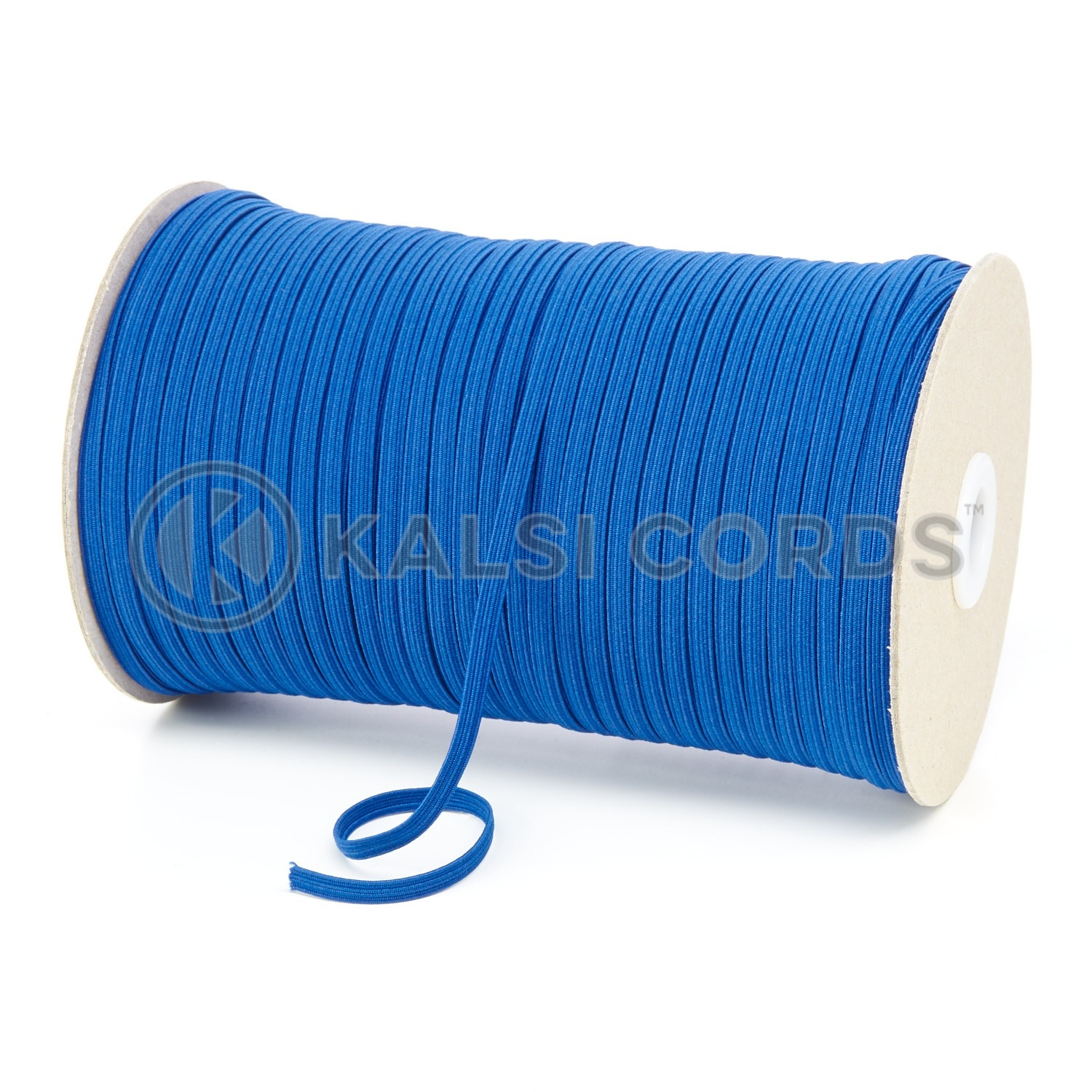 Royal Blue 4mm 6 Cord Flat Braided Elastic Roll Sewing Face Masks TPE10 Kalsi Cords