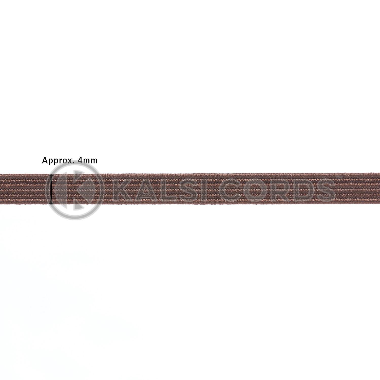TPE10 4mm 6 Cord Flat Braided Elastic York Brown PG656 Edit 1 Kalsi Cords