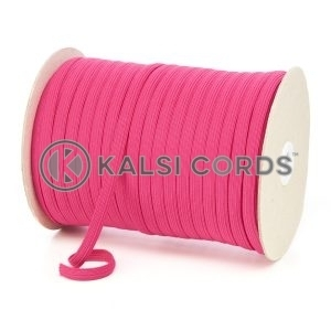TPE225 8mm 10 Cord Flat Braided Elastic Cerise Pink PG391 Kalsi Cords