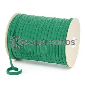 Emerald Green 8mm 10 Cord Flat Braided Elastic Roll Sewing Tailoring Face Masks TPE225 Kalsi Cords