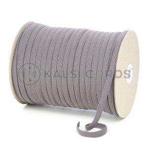 TPE225 8mm 10 Cord Flat Braided Elastic Grey PG544 Kalsi Cords