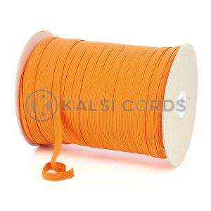 TPE225 8mm 10 Cord Flat Braided Elastic Orange PG738 Kalsi Cords