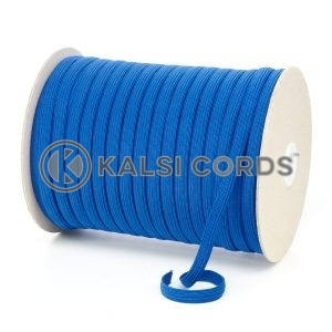 Royal Blue 8mm 10 Cord Flat Braided Elastic Roll Sewing Tailoring Face Masks TPE225 Kalsi Cords