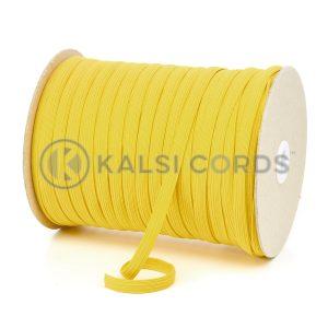 TPE225 8mm 10 Cord Flat Braided Elastic Yellow PG720 Kalsi Cords