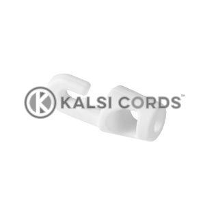 White Plastic Mini Hook Tie MHT 4 5 WHT Kalsi Cords 1