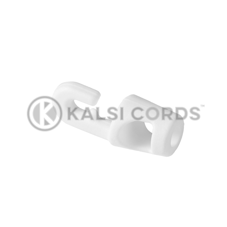 White Plastic Mini Hook Tie MHT 4 5 WHT Kalsi Cords 1