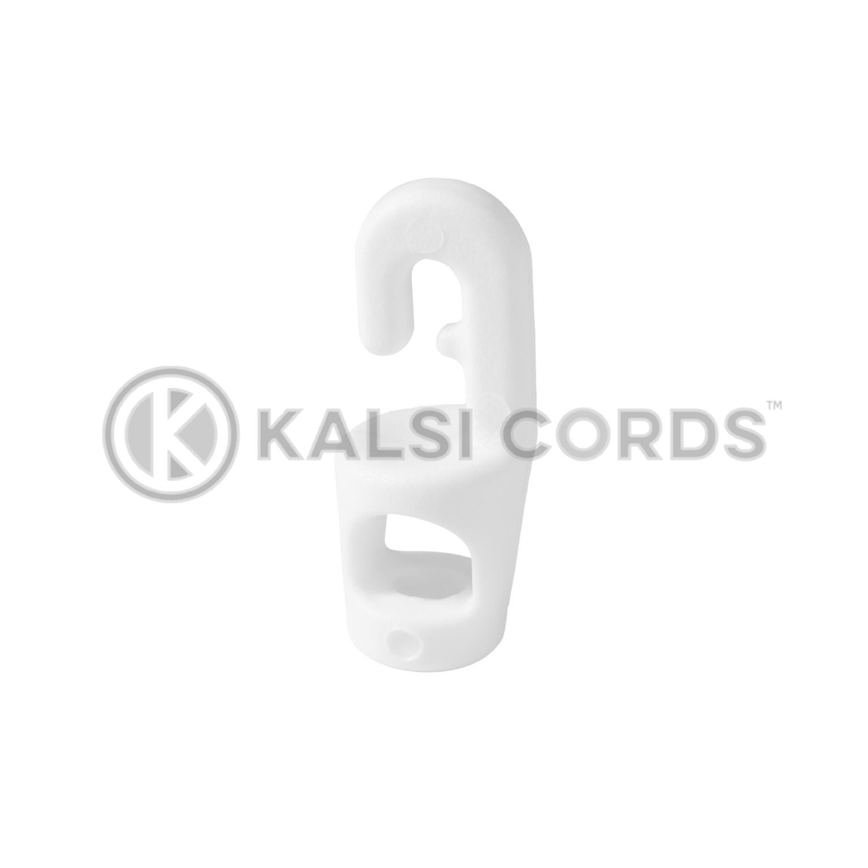 White Plastic Mini Hook Tie MHT 4 5 WHT Kalsi Cords 2