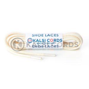 C250 2mm Thin Round Premium Cotton Shoe Laces Natural Undyed 1 Kalsi Cords
