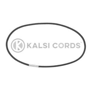 2mm Round Elastic Menu Loop Ring Black ML TPE84 BLK 1 Kalsi Cords