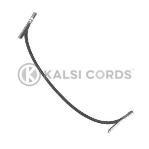 2mm Round Elastic Metal Tongue Tags Black MTNG TPE84 BLK 1 Kalsi Cords 1