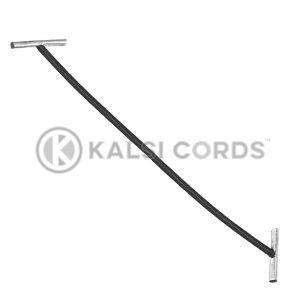 2mm Round Elastic Metal Treasury Tags Black MTT TPE84 BLK 1 Kalsi Cords