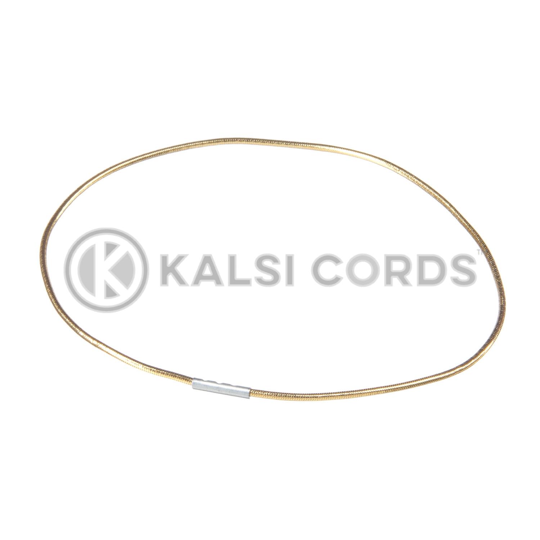 2mm Round Lurex Elastic Menu Loop Gold ML LXE1 GLD 1 Kalsi Cords