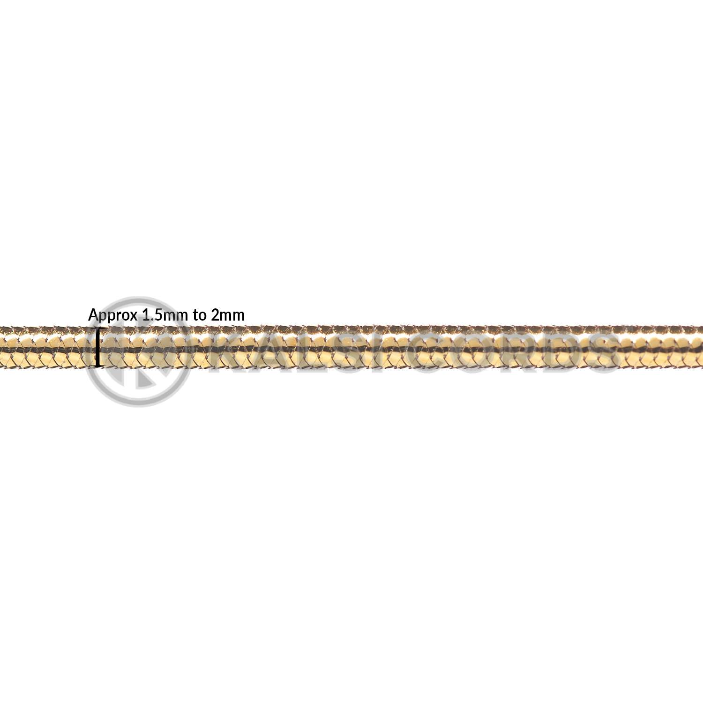 2mm Round Lurex Elastic Menu Loop Gold ML LXE1 GLD Edit 2 Kalsi Cords