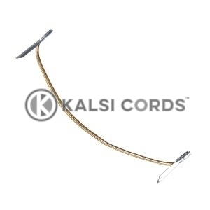 2mm Round Lurex Elastic Metal Tongue Tags Gold MTNG LXE1 GLD 1 Kalsi Cords 1