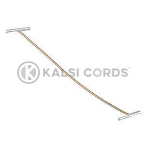 2mm Round Lurex Elastic Metal Treasury Tags Gold MTT LXE1 GLD 1 Kalsi Cords