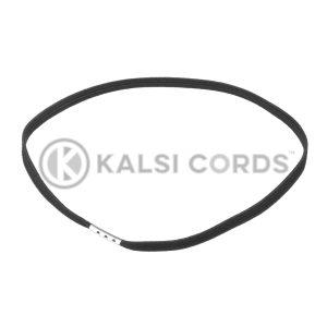4mm Flat Elastic Menu Loop Ring Black ML TPE142 BLK 1 Kalsi Cords
