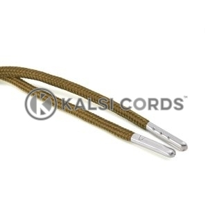 T621 5mm Round Polyester Draw String Everglade 2 Silver Metal Tip Kalsi Cords