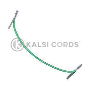 2mm Round Elastic Metal Tongue Tags Emerald Green MTNG TPE84 EM.GRN 1 Kalsi Cords