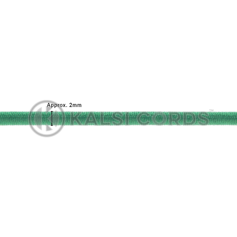 2mm Round Elastic Metal Tongue Tags Emerald Green MTNG TPE84 EM.GRN Edit 2 Kalsi Cords