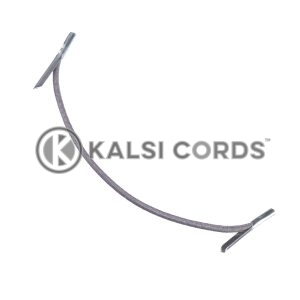 2mm Round Elastic Metal Tongue Tags Grey MTNG TPE84 GREY 1 Kalsi Cords