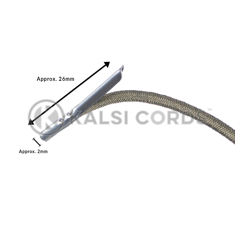2mm Round Elastic Metal Tongue Tags Khaki MTNG TPE84 KHAKI Edit 3 Kalsi Cords