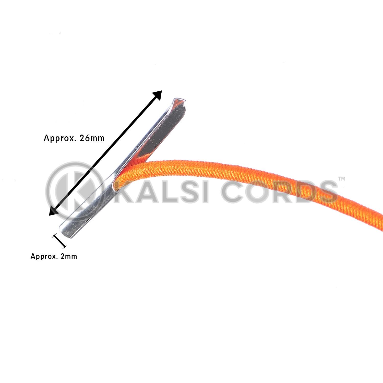 2mm Round Elastic Metal Tongue Tags Orange MTNG TPE84 ORG Edit 3 Kalsi Cords
