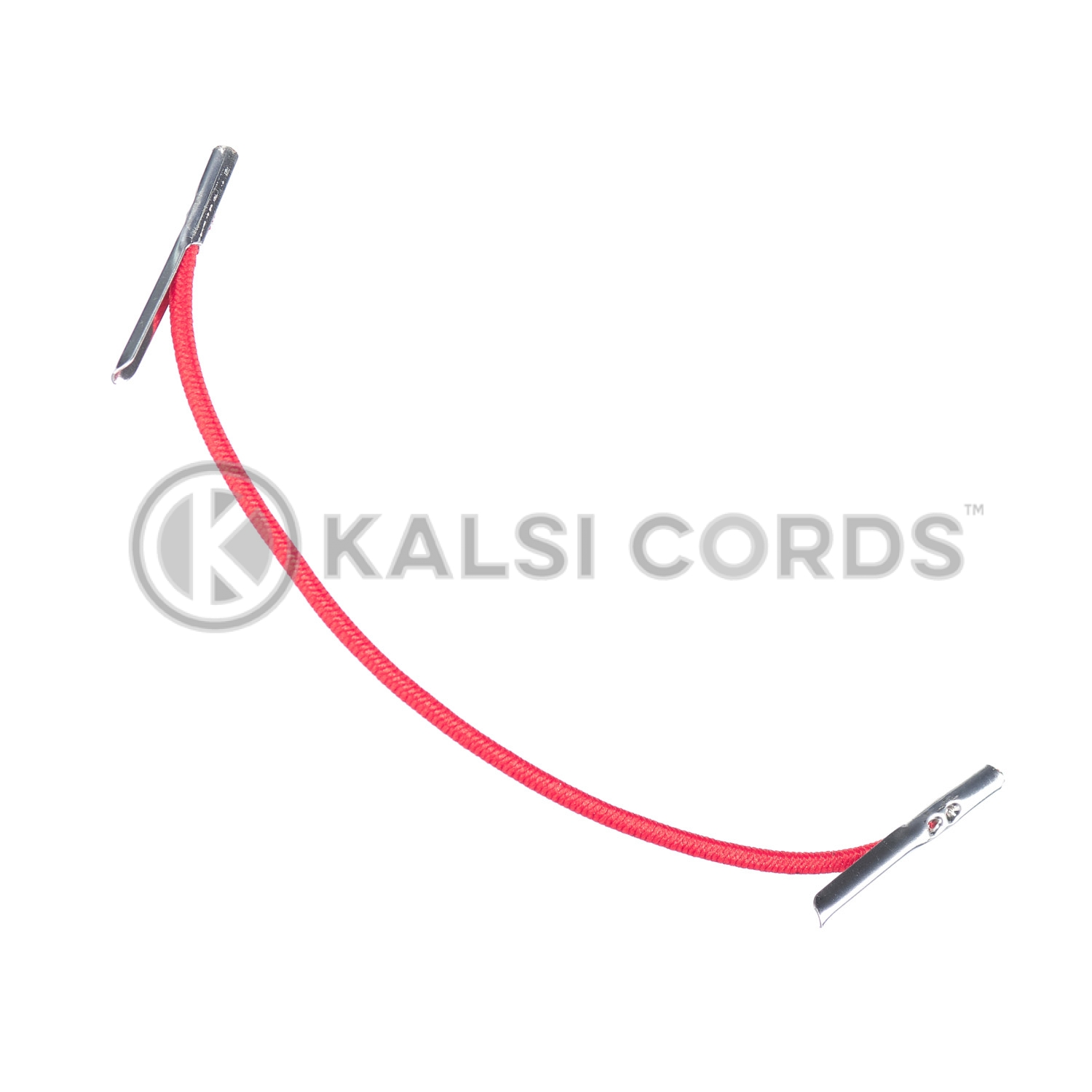 2mm Round Elastic Metal Tongue Tags Rose Madder Red MTNG TPE84 RMDR 1 Kalsi Cords