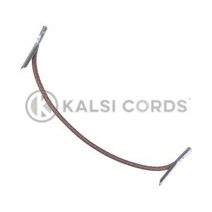 2mm Round Elastic Metal Tongue Tags York Brown MTNG TPE84 YK.BRN 1 Kalsi Cords