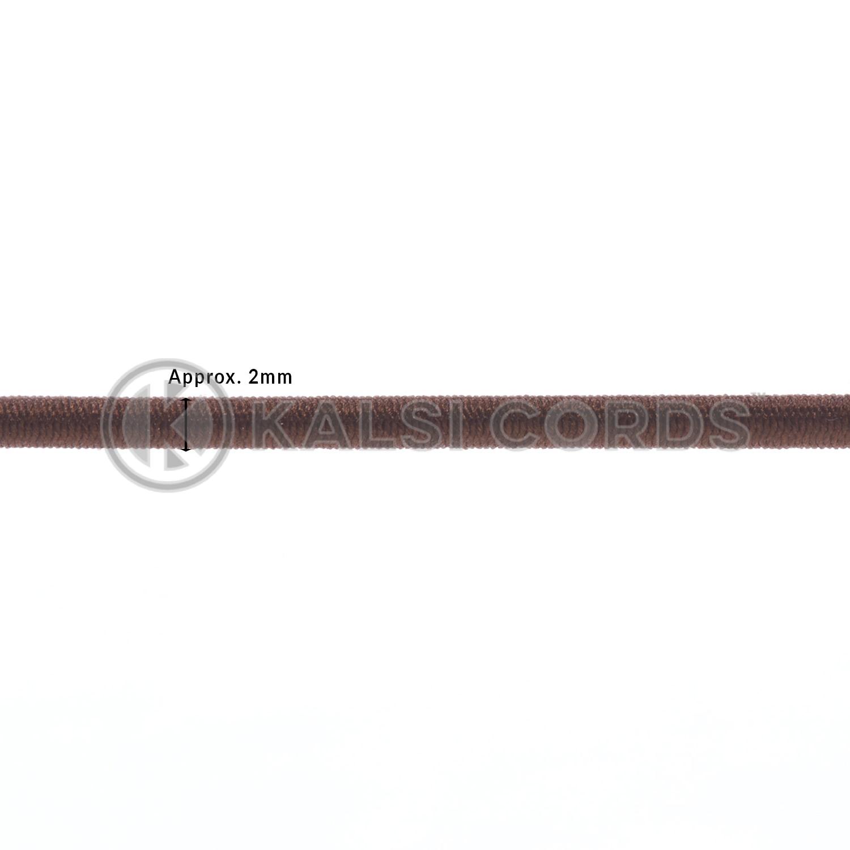 2mm Round Elastic Metal Tongue Tags York Brown MTNG TPE84 YK.BRN Edit 2 Kalsi Cords