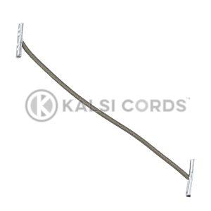 2mm Round Elastic Metal Treasury Tags Khaki MTT TPE84 KHAKI 1 Kalsi Cords