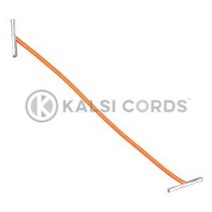 2mm Round Elastic Metal Treasury Tags Orange MTT TPE84 ORG 1 Kalsi Cords