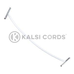 2mm Round Elastic Metal Treasury Tags White MTT TPE84 ECRU 1 Kalsi Cords