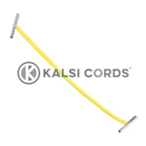 2mm Round Elastic Metal Treasury Tags Yellow MTT TPE84 YELL 1 Kalsi Cords