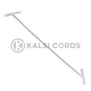 2mm Round Lurex Elastic Metal Treasury Tags Silver MTT LXE1 SIL 1 Kalsi Cords