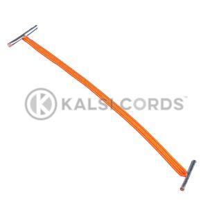 4mm Flat Elastic Metal Treasury Tags Orange MTT TPE142 ORG 1 Kalsi Cords