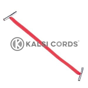 4mm Flat Elastic Metal Treasury Tags Rose Madder Red MTT TPE142 RMDR 1 Kalsi Cords