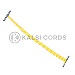4mm Flat Elastic Metal Treasury Tags Yellow MTT TPE142 YELL 1 Kalsi Cords