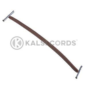 4mm Flat Elastic Metal Treasury Tags York Brown MTT TPE142 YK.BRN 1 Kalsi Cords
